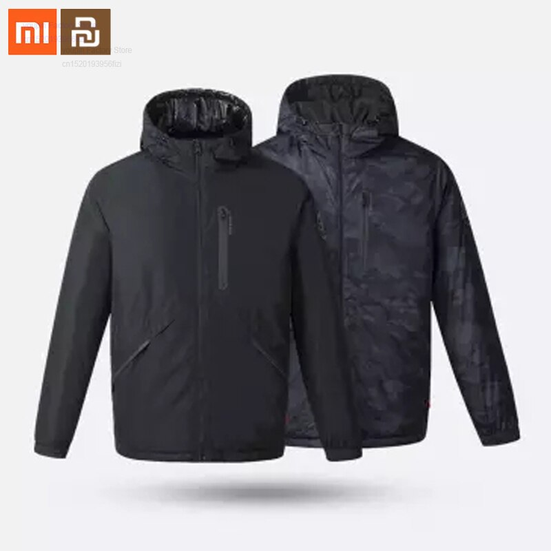 Original xiaomi Uleemark smart fever double-sided wear 3.0 mens goose down jacket double-sided wear warm jacket high quality