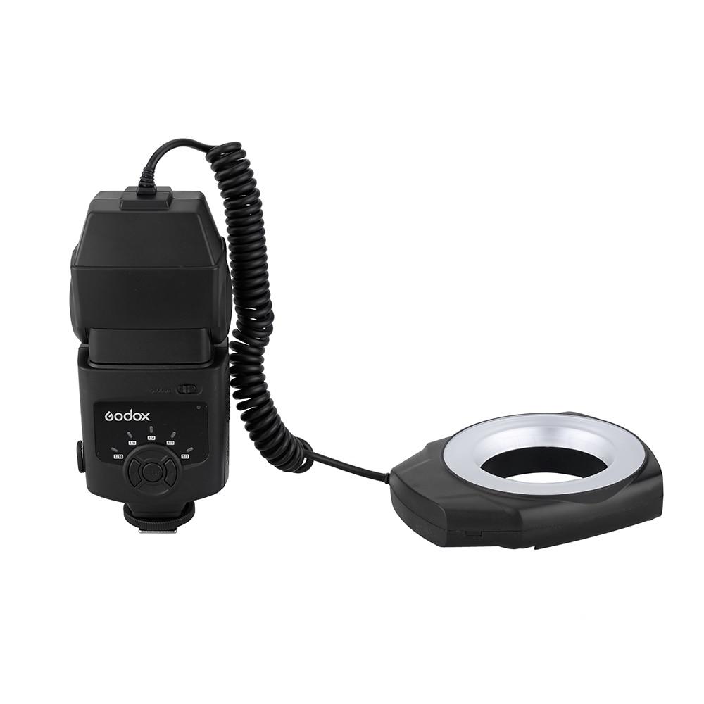 Godox ML-150 حلقة ماكرو فلاش ضوء Speedlite مع 6 محول العدسة خواتم لكانون نيكون بنتاكس أوليمبوس كاميرات DSLR