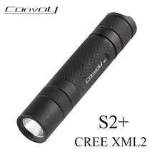 Светодиодный фонарь Convoy S2 + Cree XML2 EDC, светодиодный фонарь, мини-фонарь, велосипедный светильник для самообороны, Кемпинговый Рабочий фонарь
