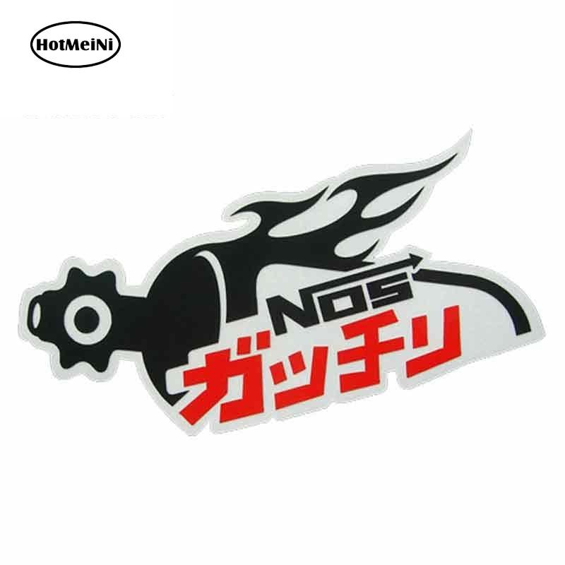 HotMeiNi 13 см х 7,5 см для нитрозных Nos внутри, Настраиваемые автомобильные наклейки и наклейки, оригинальные креативные наклейки, корпус для авто...