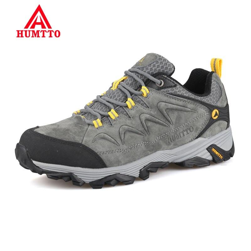 HUMTTO-أحذية السلامة في الهواء الطلق للرجال ، أحذية رياضية جلدية للرجال ، مقاومة للماء ، علامة تجارية ، تصميم فاخر ، غير رسمي ، لفصل الشتاء