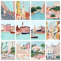 SDOYUNO Peinture Par Numeros Peinture A Lhuile Par Numeros Sur Toile Paysage 40x50cm Sans Cadre DECORATION BRICOLAGE Art Mural