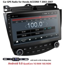 Für Honda Accord 7 CM UC CL 2005 2006 2007 2008 Auto Radio Multimedia Video Player Navigation GPS Android 9,0 2din Freies Kamera