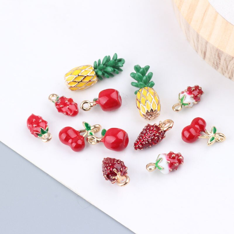 Аксессуары-«сделай-сам»-подвеска-в-виде-капли-из-сплава-с-изображением-фруктов-прекрасные-стерео-серьги-подвески-в-виде-ананаса-клубники