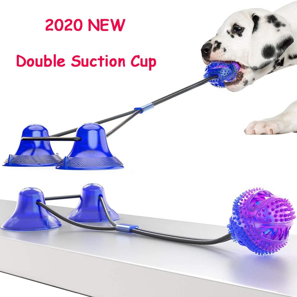 Модернизированный собака молярная Укус игрушка Многофункциональный жевательные игрушки для питомцев двойная присоска собака тянуть мяч для собак отбеливание при чистке зубов Еда диспенсер