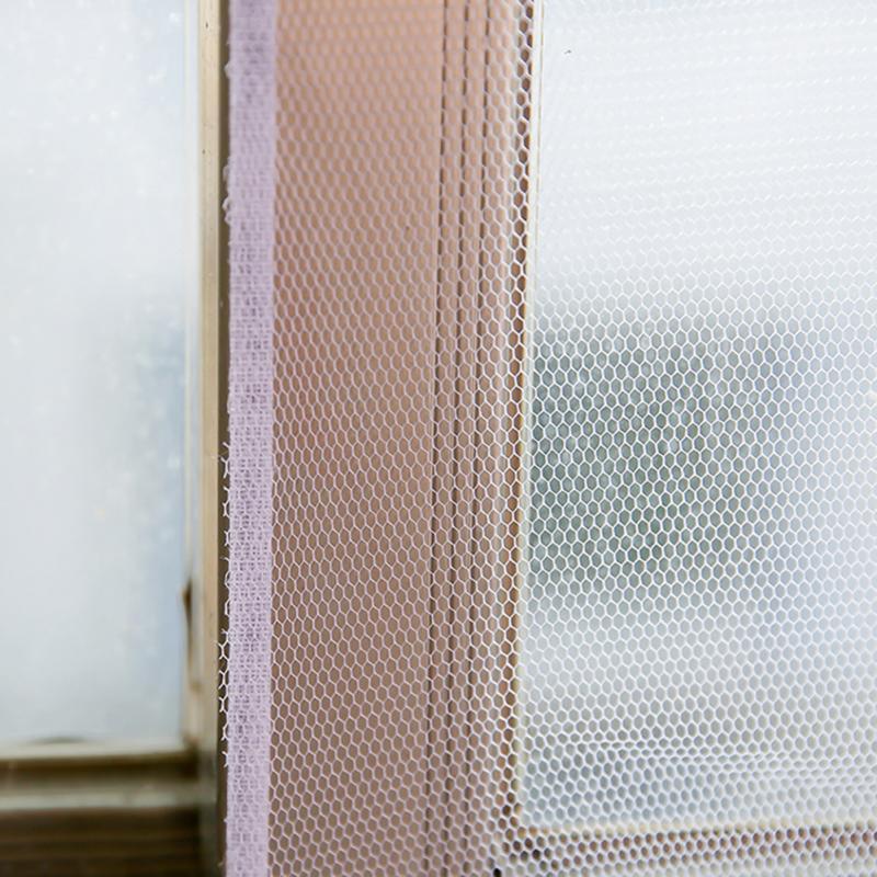 Moustiquaires anti-moustiques blanches 1 pièce   Facile à installer et à enlever, ruban de bricolage ménager, moustiquaires transparentes, 150x130cm