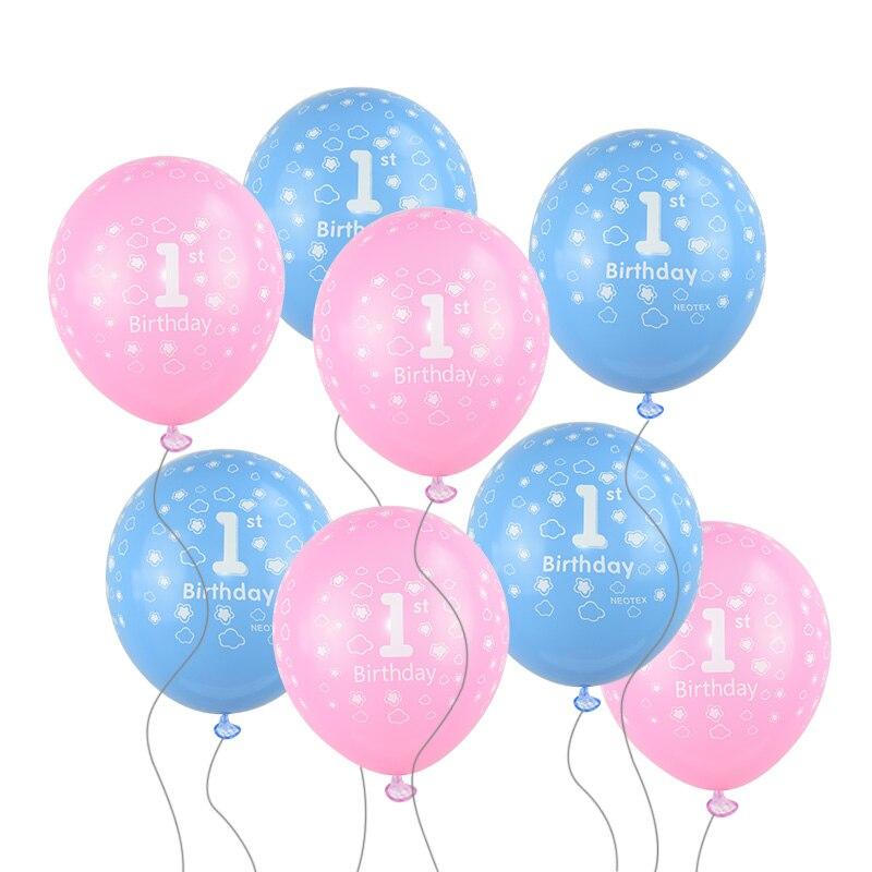 1 er cumpleaños Globos 1 año decoración niño globo decoraciones para fiesta de cumpleaños niños niño niña cumpleaños niña 1 año Globos de helio