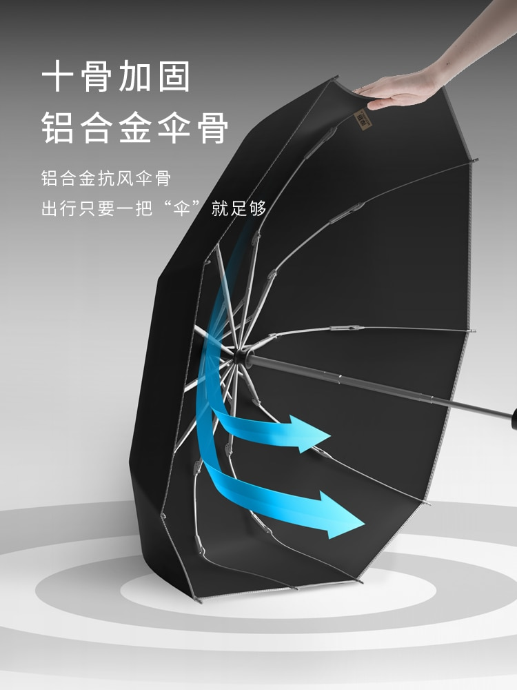 Large Automatic Umbrella Men 3 Folding Travel Luxury Waterproof Windproof Reflective Car Umbrella Outdoor Home Rain Gear DA60YS enlarge