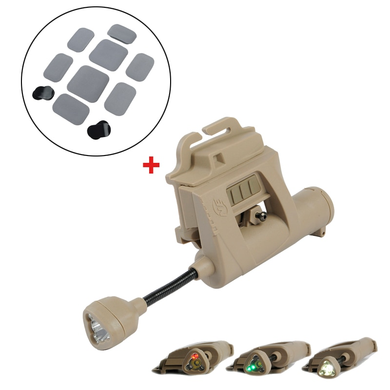 Herramienta de iluminación de luz de casco MPLS de carga de evolución nocturna y almohadilla protectora táctica para casco CP