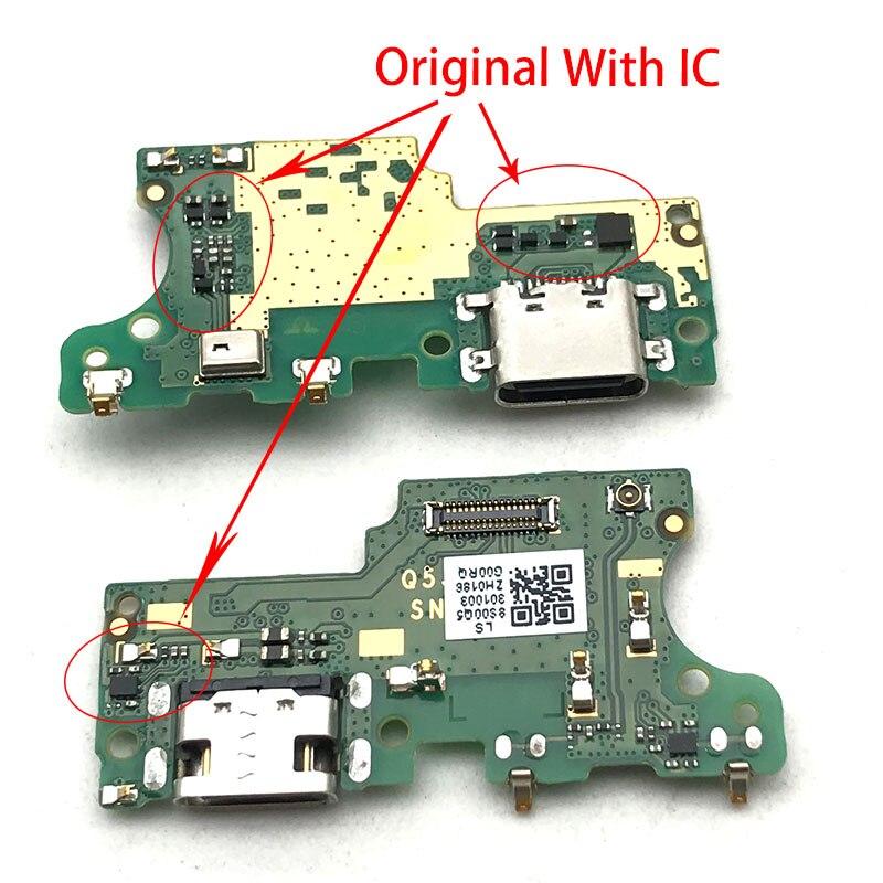 Conector de base cargador Micro USB puerto de carga Placa de Cable flexible para Lenovo S5 K520 con piezas de repuesto de micrófono