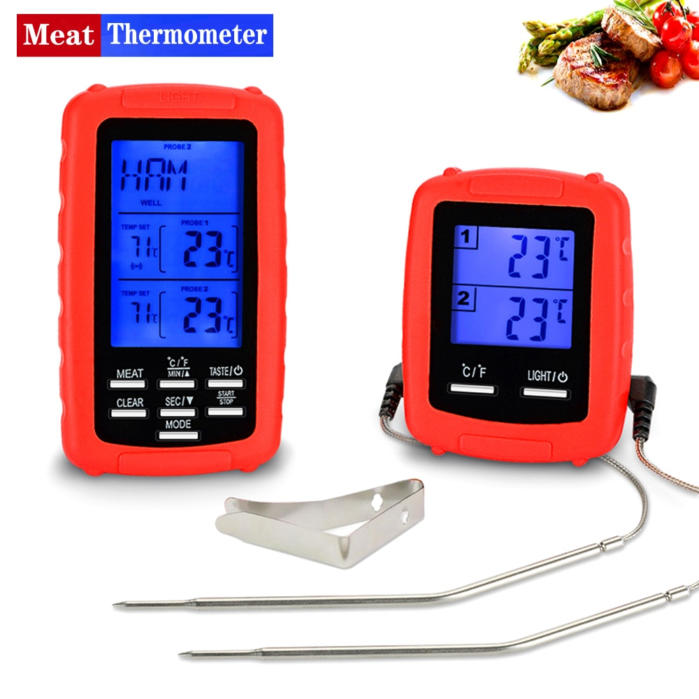 EAAGD Wireless Remote Digital Cooking Meat Thermometer with Dual Probe for Kitchen Barbecue Oven Food Surveillance within 70M