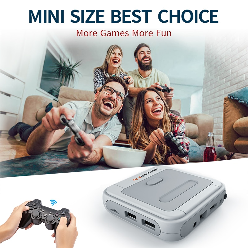 Super Console X Pro Mini/TV Video Game Consoles WIFI HD Output For PSP/N64/DC/PS1 Games For Xbox Gamepad Built-in 50000+Games enlarge