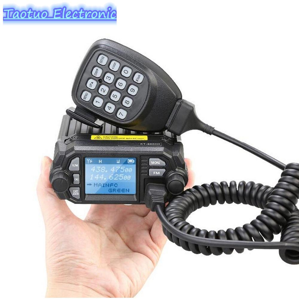 KT-8900D Mini Car Radio 25W Walkie Talkie VHF UHF Mobile Radio 2 Way Radio Quad Display Dual Band KT-8900D Walkie Talkies