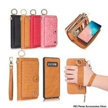 Multifunktions Zipper Wallet Fall Für Samsung Hinweis 10 Plus S10 Plus Abnehmbaren Flip Leder Fall Für Samsung S10e Telefon Fall capa
