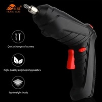 3 6v electric screwdriver mini drill set multifunctional rechargeable lithium battery power tools for home machine cordless dril