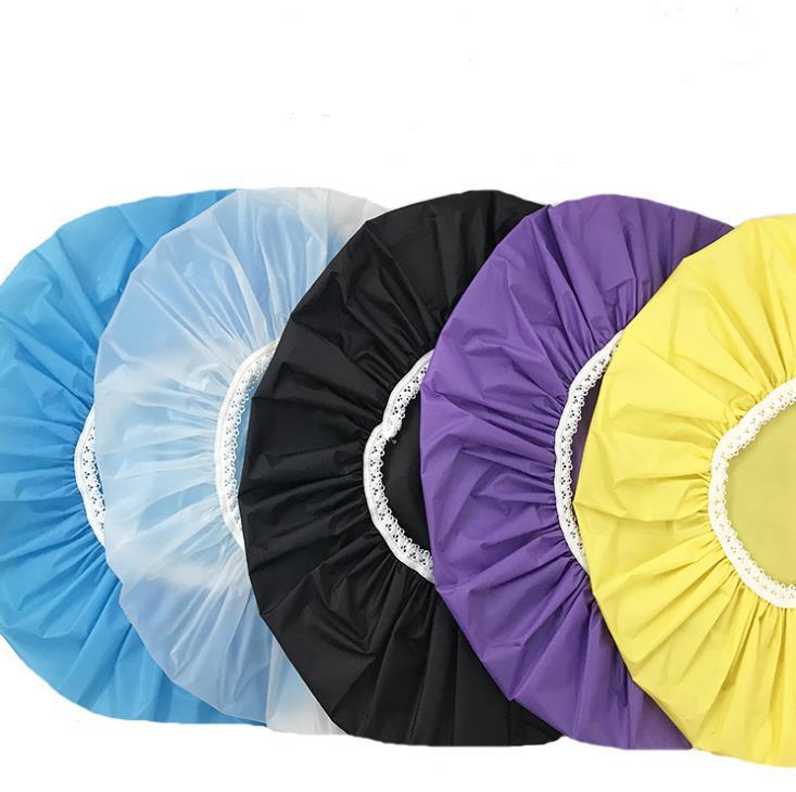 Household Waterproof Shower Caps Hat Bathing Caps Hotel Elastic Bath Cap Hair Cover Bathroom Products SN92