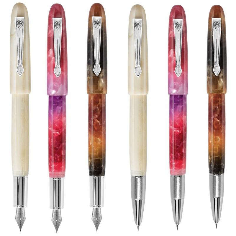 Jinhao Celluloid Classic Fountain Pen Resin Brown Iridium Fine 0.5mm Writing Gift Office Pen new jinhao 159 fountain pen iridium fine nib 0 5mm excellent fashion office writing gift pen for business