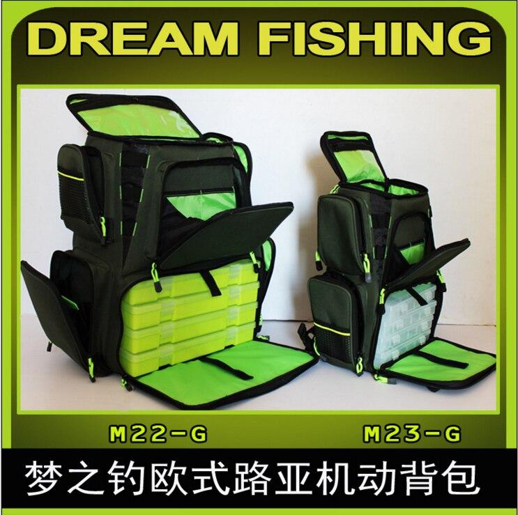 Ao ar livre mochila grande e pequeno tamanho saco de isca de pesca saco de engrenagem kit acessórios pacote europeu isca pesca mochila motorizada