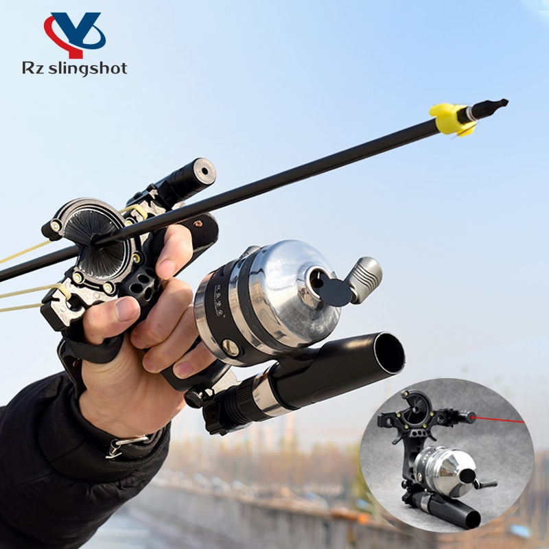 New Upgrade Fish Shooting Slingshot with Laser Professional High-precision Catapult with Arrow Outdo