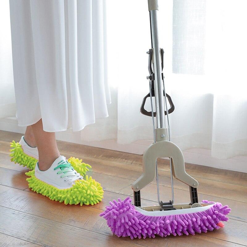 Limpiador de pies, 1 par, para zapatos, mopa, zapatilla, funda para el polvo, práctico y cómodo, accesorios para el hogar, Herramientas de limpieza
