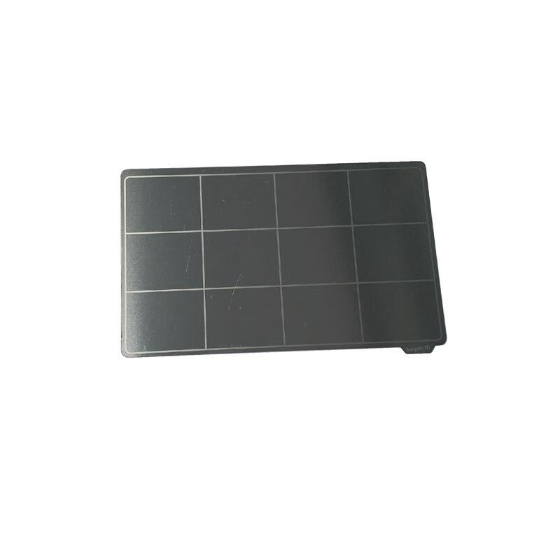 Placa de construcción Flexible enérgica para resina, impresión 3D FDM, hoja de acero de resorte de eliminación de 102x59mm + Base magnética para naranja más larga 10