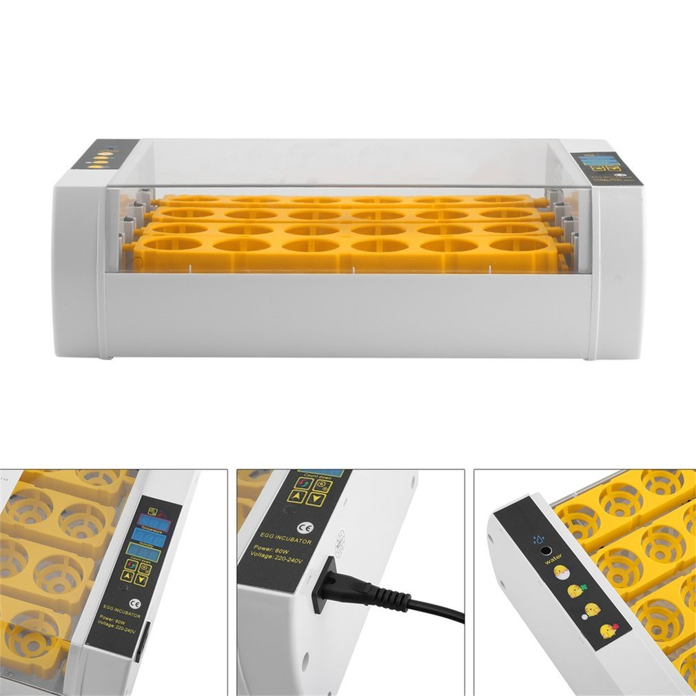 Быстрая доставка! Практичный 24 яйца большой емкости мини инкубатор для курицы птицы перепелиные яйца домашнего использования автоматическ...