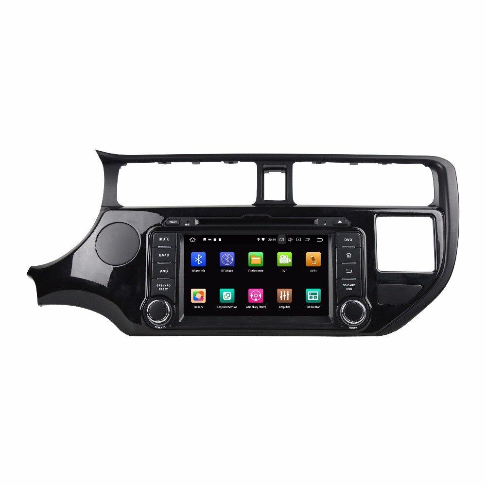 "Reproductor Multimedia para coche 8 Core 7 ""2 Din Android 9,0 para KIA K3 RIO 2011-2012 reproductor DVD para coche 1024*600 Audio estéreo DSP"