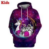 unicorn astronaut outerspace hoodies 3d printed kids sweatshirt long sleeve boy for girl funny pullover 03