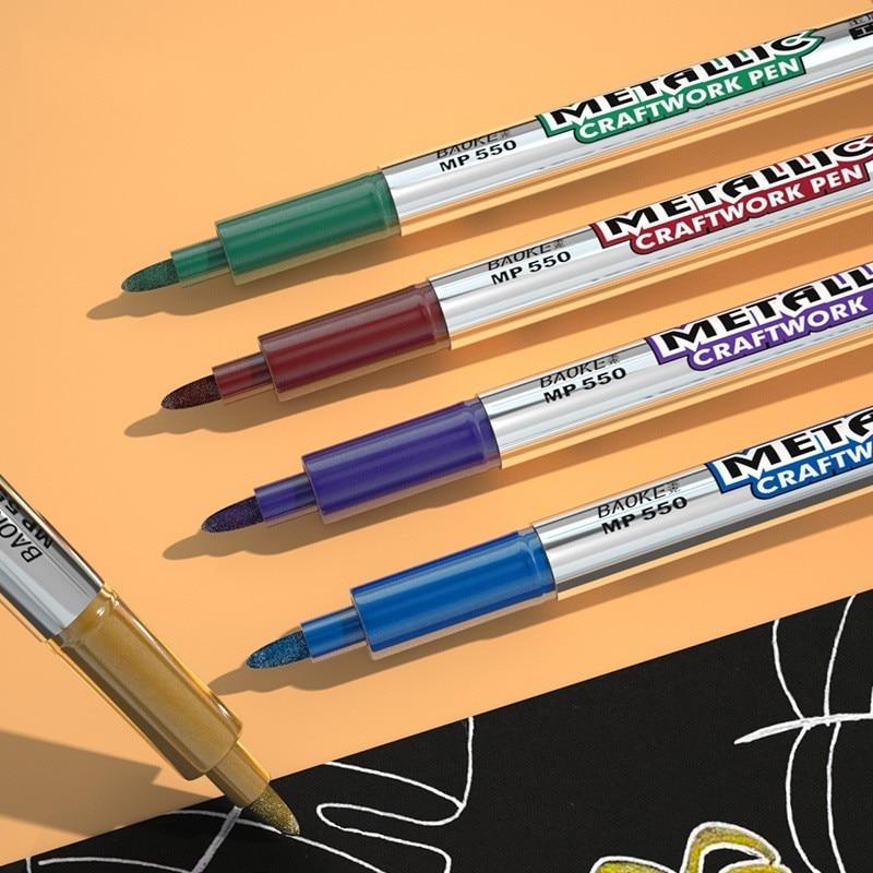 Ручка для автомобильной краски «сделай сам», металлический Перманентный маркер для краски, масляный маркер для граффити, цветная Водонепро...