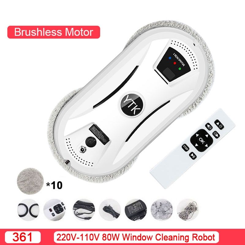 window cleaning robot vacuum cleaner home high suction of smart remote control with remote control automatic clean Smart ultra-thin Robot Vacuum Cleaner Window Cleaning Robot Home Remote Control One-button Start Brushless Motor