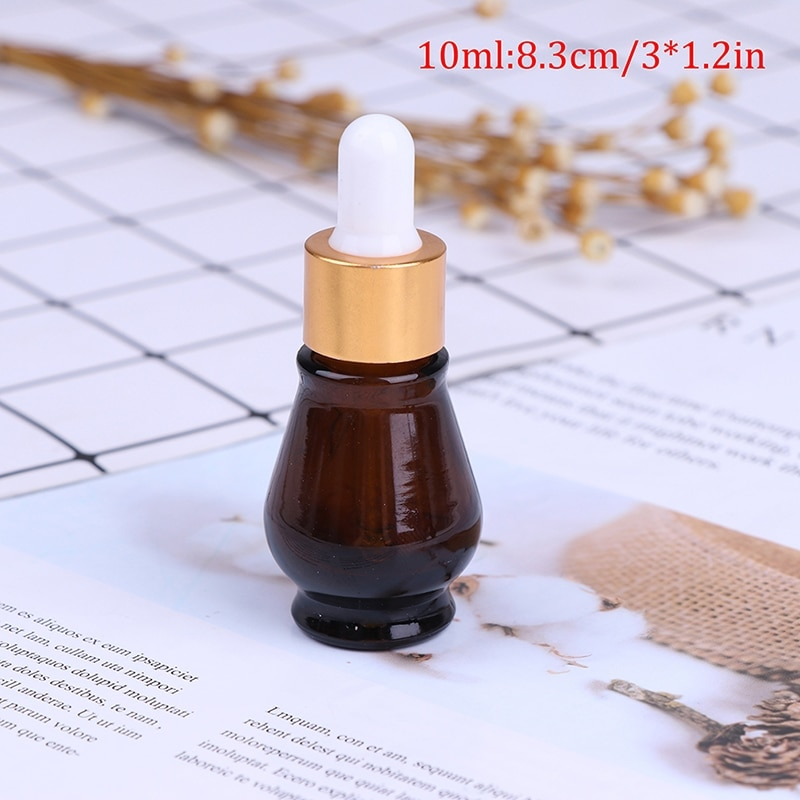 1PC Glass Refillable Container 10/20/30ml Amber Glass Dropper Bottle Essential Oil Perfume Bottles Empty Bottle