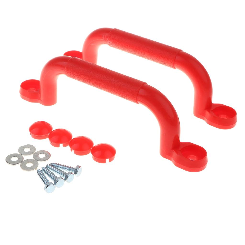 4 pares de alcas de seguranca ajustadas do balanco punhos do campo de jogos acessorios