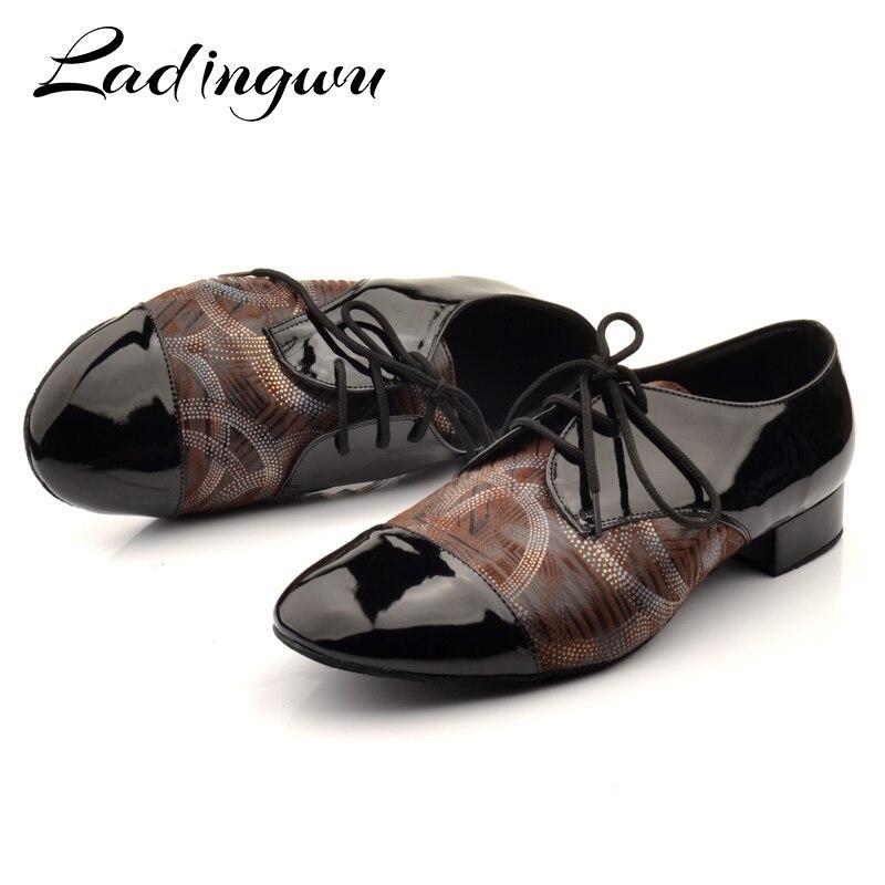 ¡Novedad! Ladingwu para hombre de zapatos de baile latino, zapatillas de baile de salón, Jazz, Tango, zapatos de baile para hombre, zapatillas de baile para niño