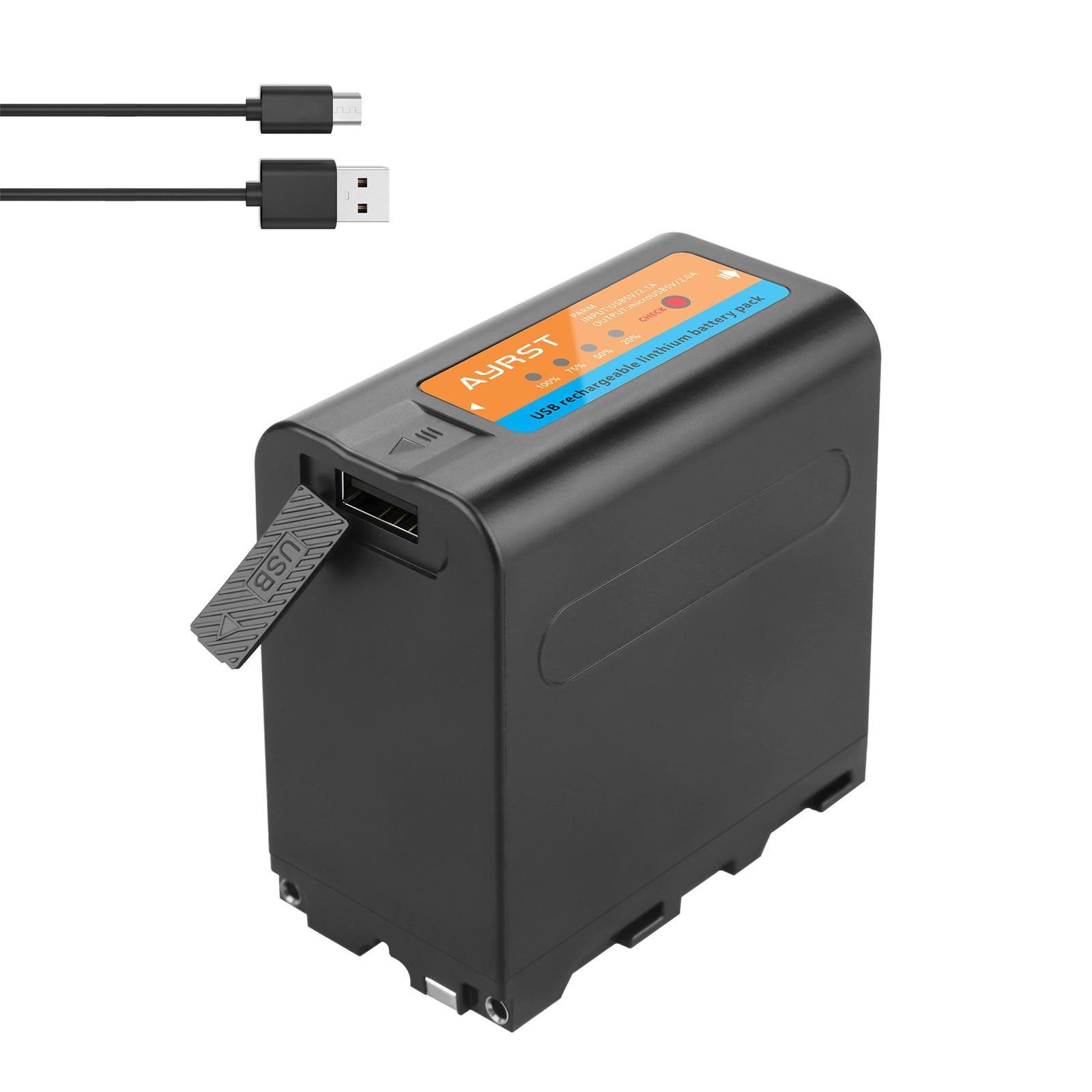 8800mah NP-F980 NP-F970 f960 bateria com cabo usb indicador led para sony f960 f550 f570 f750 f770 mc1500c luz de vídeo