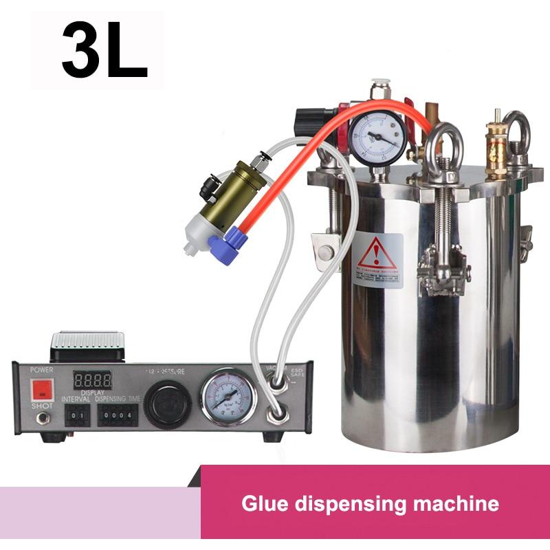 جهاز توزيع الغراء ، خزان ضغط 3 لتر ، موزع رقمي ، vavle