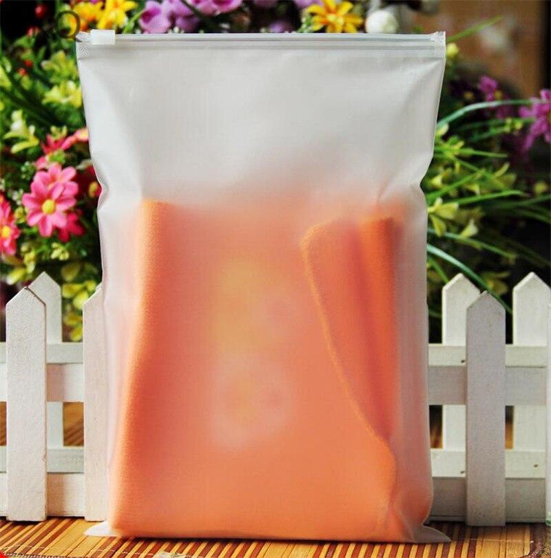 20 Uds 10x1 5cm/14x20cm de plástico esmerilado bolso cosmético bolsa Ziplock camiseta/calcetines bolsas de embalaje impermeable de almacenamiento de bolsas