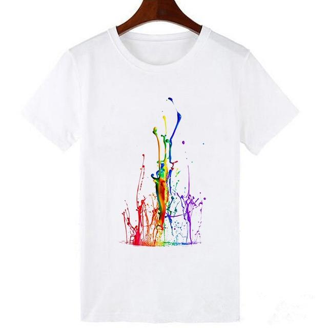 Ladies fashion love nail polish T-shirt personality design top summer casual loose beautiful women 2020