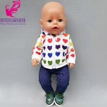 Born bébé poupée vêtements pyjamas de couchage ensembles 18 pouces vêtements de poupée américaine survêtement