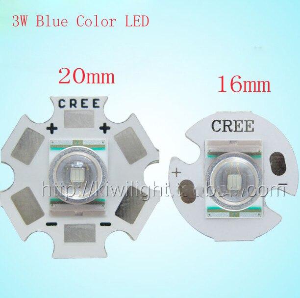 SMD LED 3W Color azul con placa de aluminio 465-480NM alta potencia para Flash-Luz