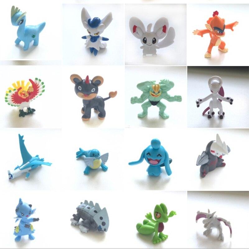 Conjunto (1) nova chegada 4cm anime ação brinquedo figuras coleção modelo brinquedos pokemonal figuras