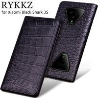 luxury genuine flip leather case for xiaomi black shark 3s flip cover handmake leather cases for black shark 3 pro case