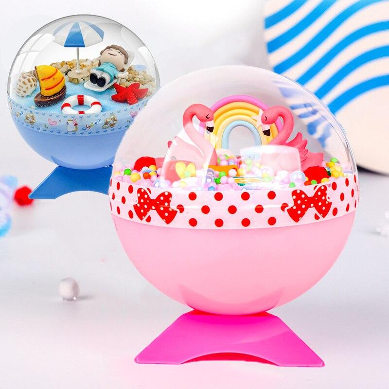 Детский творческий магический хрустальный шар «сделай сам», игрушки для малышей, ручная работа, микроландшафт, ручная работа, материал для ...