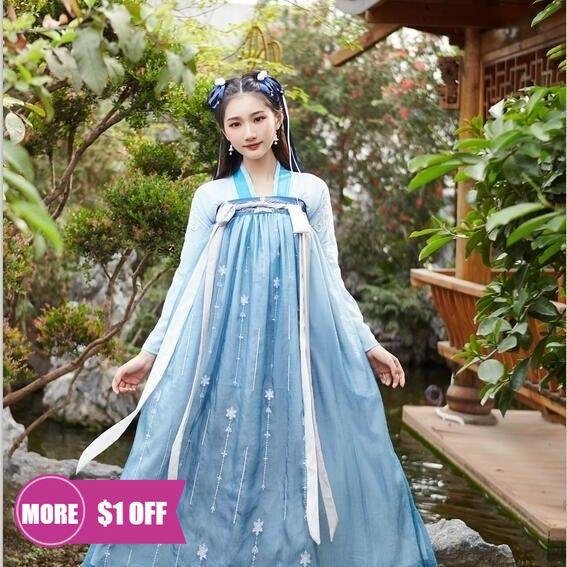 Женский Традиционный китайский костюм ханьфу, одежда для косплея, женская одежда для принцесс династии Хань, платье в восточном стиле динас...