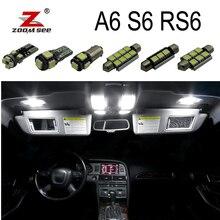 Ampoule Canbus blanche 100% sans erreur   Kit de lumières carte dôme intérieur pour Audi A6 S6 RS6 C5 C6 C7 (1994-2016)