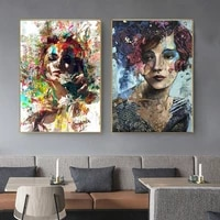 graffiti girl figure wall art poster mural canvas print figure beauty art picture for living room home decor cuadros
