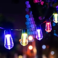 luz solar led para exterior panel lampara white gardening festoon pool holiday garlands outdoor garden christmas deco light bulb