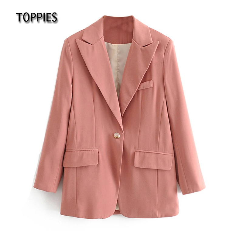 toppies 2021 summer pink blazer thin jacket single button coat office ladies formal blazer women jackets