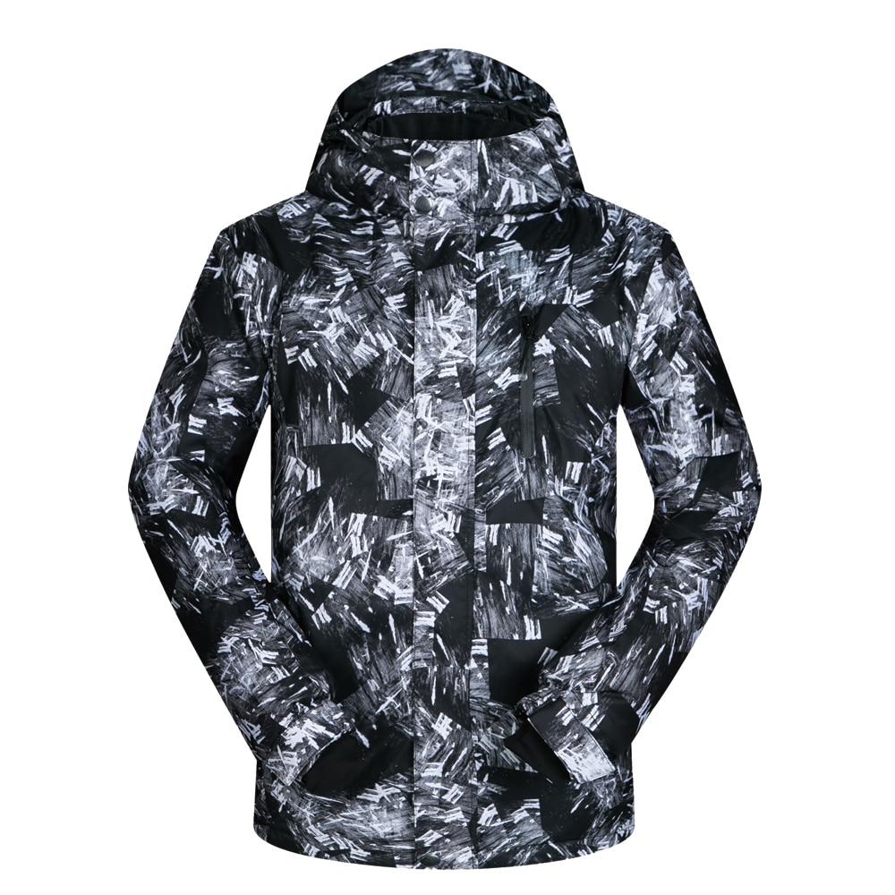 Лыжные куртки мужские брендовые ветрозащитные водонепроницаемые дышащие Толстая теплая одежда пальто зимние лыжные и сноубордные куртки ...