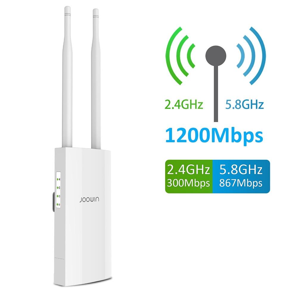 1200mbps wifi ponto de acesso ao ar livre poe alimentado ap repetidor sem fio de