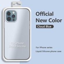 M3C Original Square Liquid Silicone Phone Case For iPhone 13 12 11 Pro Max Mini XS XR X 8 7 Plus SE